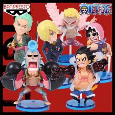 6pcs WCF Fight One Piece Luffy Zoro Franky Sanji Japanese Anime PVC Figure Set
