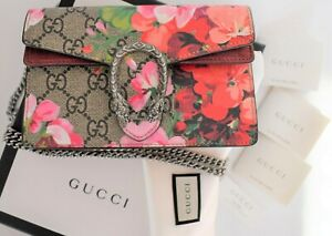 🆕️ Authentic GUCCI DIONYSUS GG BLOOM Canvas CHAIN Super MINI Cross Body Bag