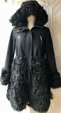 Ted Baker Furry Shearling Detail Parka Coat Size 2 UK 10/12 Sample New RRP £900