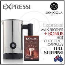 Expressi Milk Frother + Rich Hot Chocolate Capsules Pods Coffee Machine ALDI