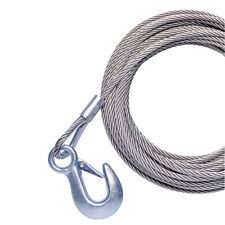 """POWERWINCH CABLE 20' X 7/32"""" W/HOOK GALVANIZED"""