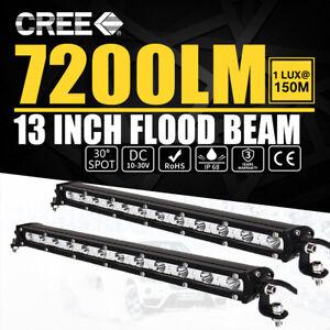 """13"""" 540W LED phare de travail Feux rampe de toit barre de 4x4 offroad light bar"""