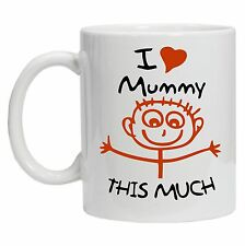 I Love Mummy This Much Mothers Day Gift 10oz Mug Coffee Tea For Mam Mum Cup