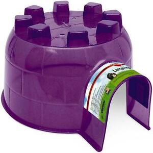 Kaytee Igloo Hideout Large Animal House Nesting, Durable Plastic - Easy To Clean