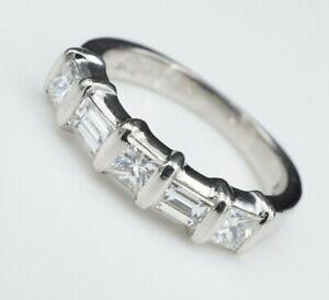 Designer Kwiat Platinum 3/4ct Diamond Five Stone Ring Wedding Band Size 5 RG2979