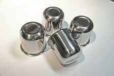 "3.3"" Stainless Push Through Wheel Center Caps, set of 4"