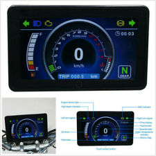 12V Motorcycle LCD Display Speedometer Tachometer Odometer+Nuocheng Speed Sensor