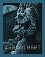 Tiki Art Ku Hawaii Moon Polynesian Tiki Bar Man Cave Decor Print Painting