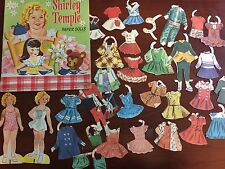 Vintage 1930'S Authorized Edition Shirley Temple Paper Dolls book 30 pieces