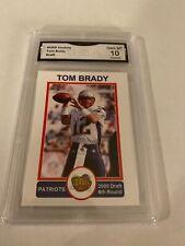 Tom Brady Aceo Custom Draft Card GMA Gem Mt10