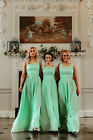 Lace Chiffon Bridesmaid Dress 2 Shoulder Wedding Prom Maxi Ballgown Charlotte