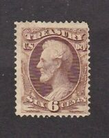 United States stamp #o91, MH OG with scuffs,  Treasury Dept., SCV $120