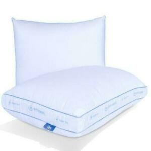 Super Firm Pillow Set Back Sleeper Sleep comfortable thick King Size White 2pcs