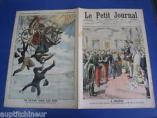 Le petit journal 1906 813 Ballon drame aéronautes Madrid roi Espagne