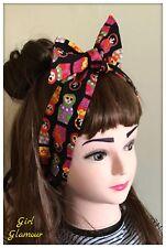 Hair Tie Headband Bandana Russian Doll Print Fabric Headscarf Dress Bow Hairband