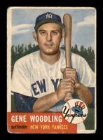 1953 Topps Set Break # 264 Gene Woodling GD Crease *OBGcards*