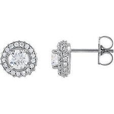 halo-style Orecchini di diamanti in 14k oro bianco (1.00 ct. TW