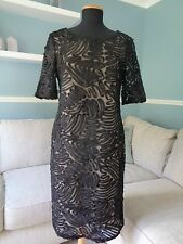 ⭐ Kaleidoscope NEW Size 10 Black Lace Evening DRESS