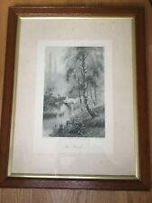 "F.W Hayes ( 1848-1918) Original Victorian framed print ""The Brook """