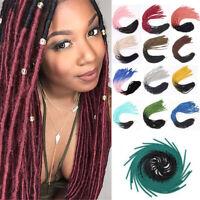 "20"" Ombre Goddess Faux Locs Dreadlocks Twist Crochet Braiding Hair Extensions"