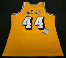 """Jerry West Signed Los Angeles Lakers Jersey """"HOF /72 Champs/The Logo"""" BAS"""
