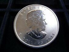2011 Canada 1 oz Silver Maple Leaf $5 dollar coin in BU  E-19-19