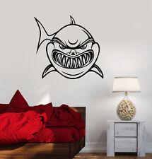 Wall Sticker Vinyl Decal Bathroom Shark Jaws Predator Ocean Sea Decor (ig1269)