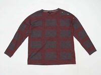 Next Womens Size 14 Check Red Top (Regular)