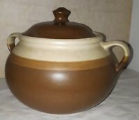 SIAL CERVAL CANADA PIERRE LEGAULT POT A CUIRE LIDDED GRES  STONEWARE