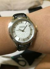 US BOUGHT Black Strap Ladies Coach Casual Classic Watch 14501524