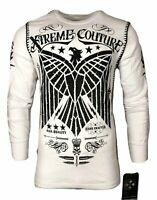 Xtreme Couture by AFFLICTION Men THERMAL T-Shirt CONNECT Eagle Biker MMA Gym