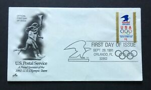 US FDC 1991 USPS Olympics $1 Stamp
