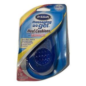 Dr. Scholl's Massaging Gel Heel Cushions Insoles Inserts (1 Pair) Women's 6-10