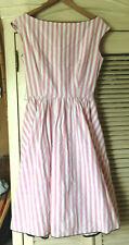 Barboglio Cristina Jan Vintage pink/white stripe cotton Party Dress Size