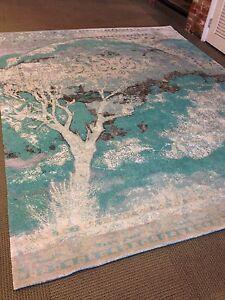 Artistic Tree Of Life Design Oriental Elegant Area Rug Silk 8' X 10 Hand Knotted