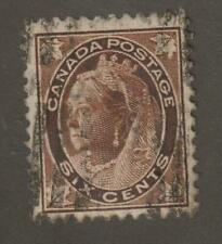 """Canada 1898 #80 Queen Victoria """"Numeral"""" Issue - F/VF Used"""