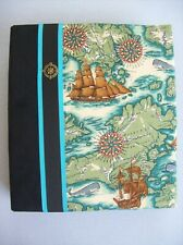 Fabric Covered 3 Ring Binder / Album - Old World Ships & Map Print
