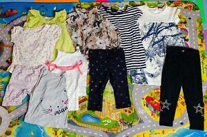 Kleiderpaket Mädchen Gr. 92, 9 Teile Frühling / Sommer, Kleid, Hose, Shirt usw.