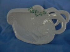 Irish Belleek Dish-Womans face vintage perfect brown mark  40 years Perfect