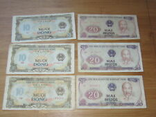 Lot of 6 pcs Vietnamese Banknotes #21