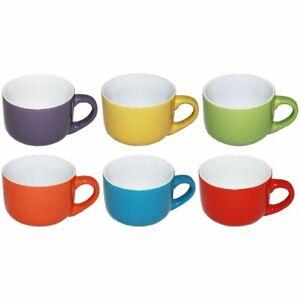 1 Tazzone Tazza Latte Cappuccino jumbo in Ceramica Color 6 Colori