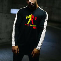 Men's Fitness Gym Long Sleeves Fashion Bodybuilding Workout T shirts Clothes
