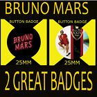 "BRUNO MARS 24K MAGIC ALBUM- BUTTON BADGE 25MM/1"" D PIN GREAT GIFT FOR FAN #CD34"