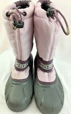WOMENS / GIRLS SOREL RAIN SNOW BOOT SIZE 5 PINK AND GRAY
