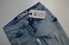 *221 NEU ONLY Damen Hüft Jeans Hose onlCORAL DESTROY SKINNY 1043 FW W26 L34 used