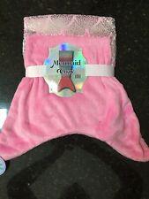 "Mermaid Tail Cozy Micro Plush Blanket 22""x 52"" Super Soft - Pink New"