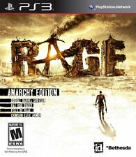 RAGE ANARCHY EDITION NEW & FACTORY SEALED FOR SONY PS3