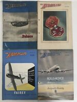 Vintage The Aeroplane Magazine 1947 -Sep 12,19,26th & Oct 3 - 4 Editions-Bundle