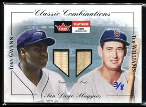 2005 National Pastime Buyback Game Used Combos Gwynn Ted Williams Dual Bat 3/8