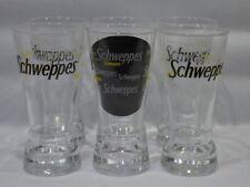 SCHWEPPES 6 verres évasés blanc/jaune/noir neuf